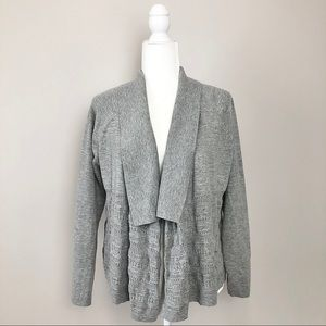 Banana Republic Open Knit Shawl Collar Cardigan